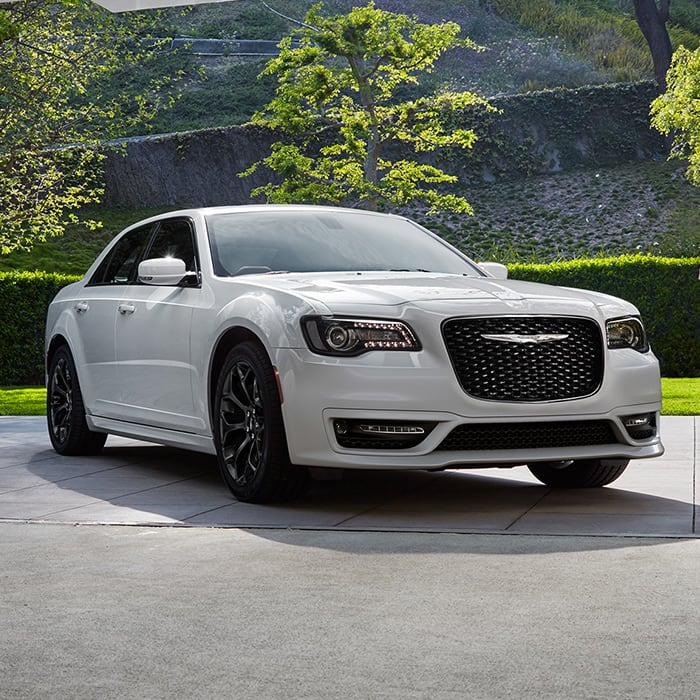 Chrysler 300 Parked On A Driveway
